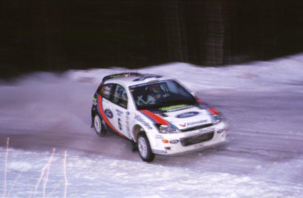 Carlos Sainz, Ford Focus WRC. RetiredSwedish Rally, Sweden 10-13/2/2000World - McKlein/LAT PhotographicRef: 2K WRC 12