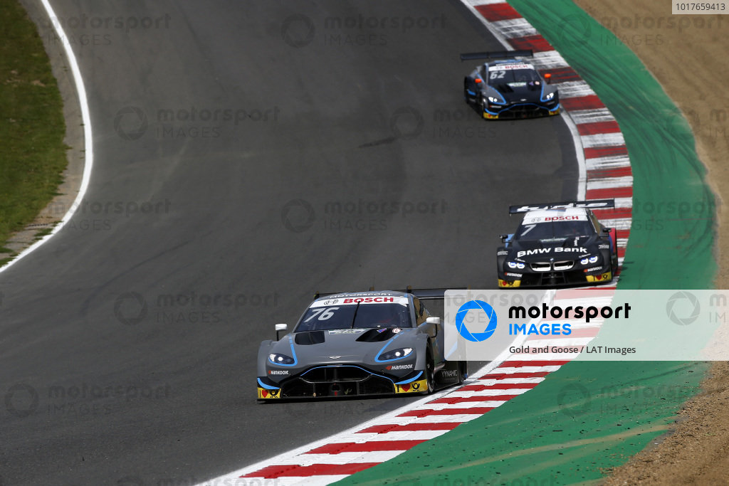 Jake Dennis, R-Motorsport, Aston Martin Vantage AMR, Bruno Spengler, BMW Team RMG, BMW M4 DTM.