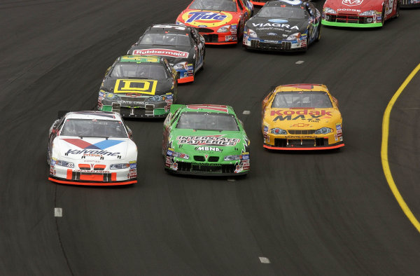 2002 NASCAR,New Hampshire Intl. Speedway,Sept 13-15, 2002 NASCAR, Loudon,NH . USA -3 wide for 2cnd place on the first green flag lap,Copyright-Robt LeSieur2002LAT Photographic