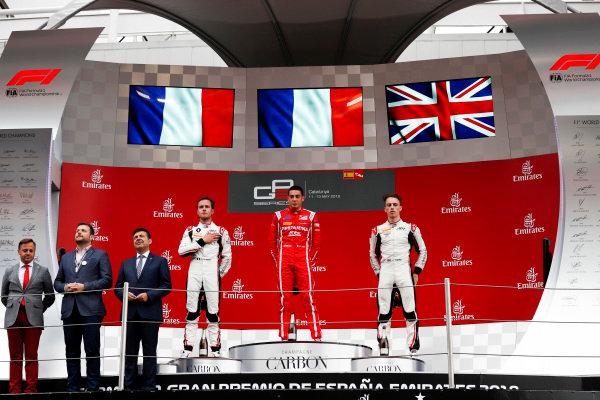 Giuliano Alesi (FRA, Trident), Jake Hughes (GBR, ART Grand Prix), Anthoine Hubert (FRA, ART Grand Prix)