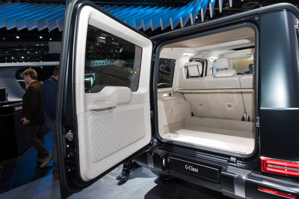 2019 Mercedes-Benz G500 debuts at the 2018 North American International Auto Show in Detroit.