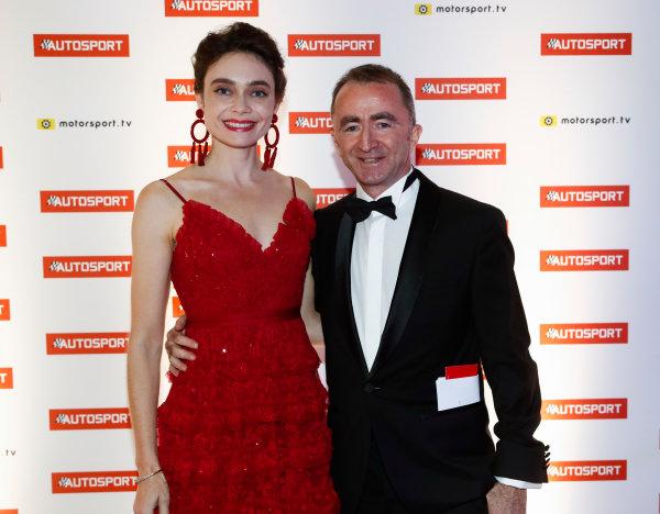 2017 Autosport Awards Grosvenor House Hotel, Park Lane, London. Sunday 3 December 2017. Paddy Lowe, Williams Martini Racing Formula 1. and wife. World Copyright: Glenn Dunbar/LAT Images Ref: Digital Image _31I1564