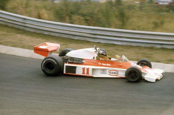 1976 German Grand Prix.Nurburgring, Germany. 1 August 1976.James Hunt, McLaren M23-Ford, 1st position, action.World Copyright: LAT PhotographicRef: 35mm transparency 76GER