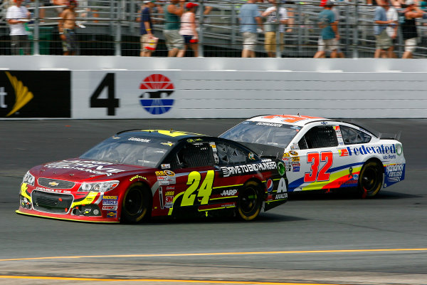 12-14 July, 2013, Loudon, New Hampshire USA Jeff Gordon amnd Ken Schrader © 2013, Russell LaBounty LAT Photo USA .