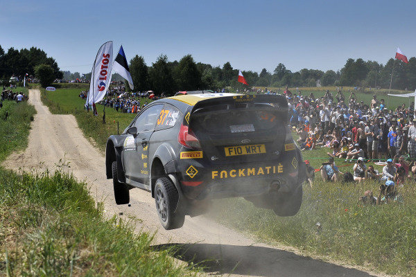 Lorenzo Bertelli (ITA) / Giovanni Bernacchini (ITA) Ford Fiesta RS WRC at FIA World Rally Championship, Rd7, Lotos 71st Rally Poland, Day Two, Mikolajki, Poland, Saturday 4 July 2015.