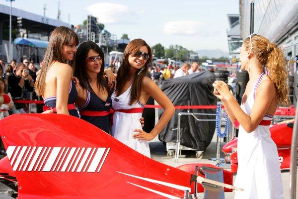 2007 Italian Grand Prix - ThursdayAutodromo di Monza, Monza, Italy.6th September 2007.Martini girls on show in the paddock. Glamour. Atmosphere.World Copyright: Lorenzo Bellanca/LAT Photographicref: Digital Image ZD2J5857