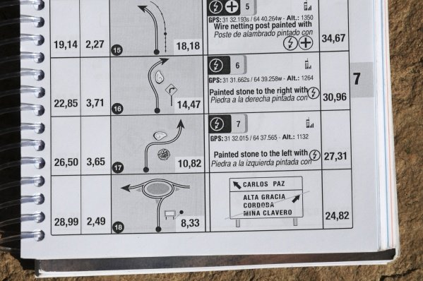 The road book page depicting the junction that was subject to a Stewards decision. The Rally organisers were fined 5000 Euros for the irregularity.World Rally Championship, Rd6, Rally Argentina, Villa Carlos Paz, Cordoba, Argentina, Day Three, Sunday 29 May 2011.