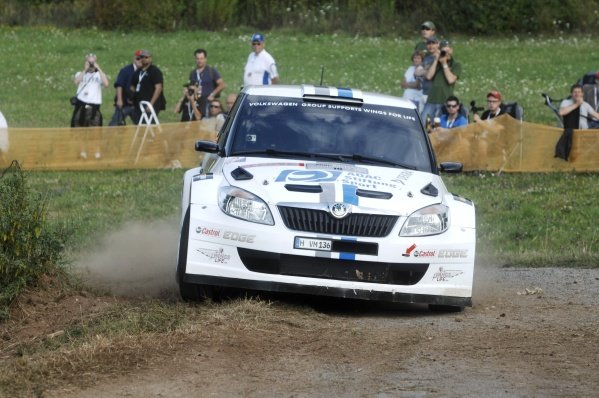 Christian Riedemann (GER) on the shakedown stage in the Volkswagen Motorsport entered Skoda Fabia S2000.