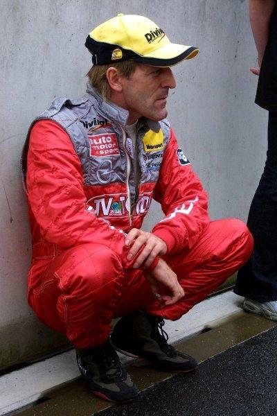 """Smokin' Jo"" Joachim Winkelhock (GER) Opel Team Phoenix.DTM Championship, Rd6, Lausitzring, Germany. 14 July 2002.DIGITAL IMAGE"