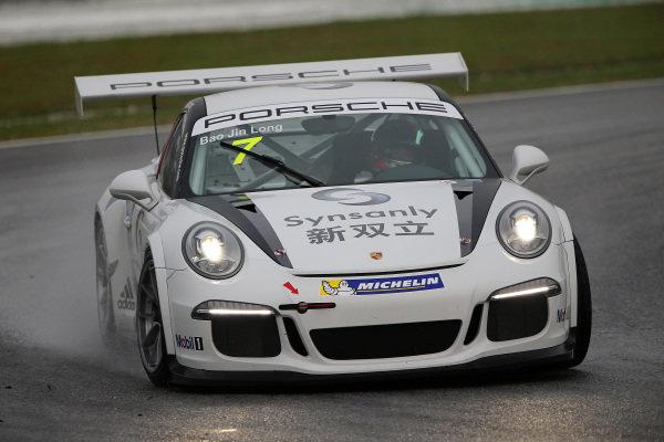 Jin Long Bao (CHN) Team Synsanly. Porsche Carrera Cup Asia, Sepang, Malaysia, 28-30 March 2014.