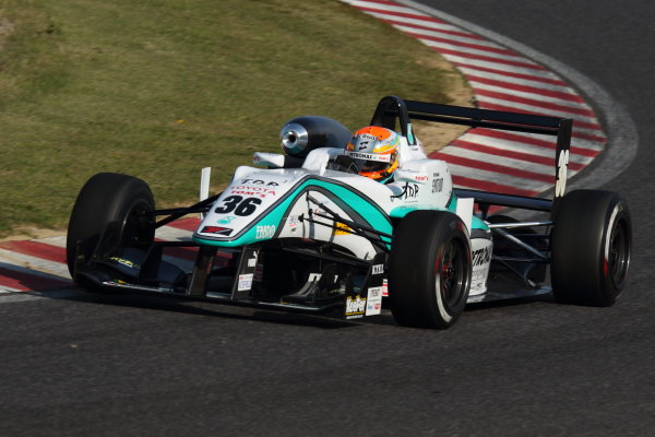 Suzuka, Japan. 13th - 14th April 2013. Rd 1. Race 1 2nd position Yuichi Nakayama ( #36 PETRONAS TEAM TOM'S ) action World Copyright: Yasushi Ishihara/LAT Photographic Ref: 2013_JF3_Rd1&2_009