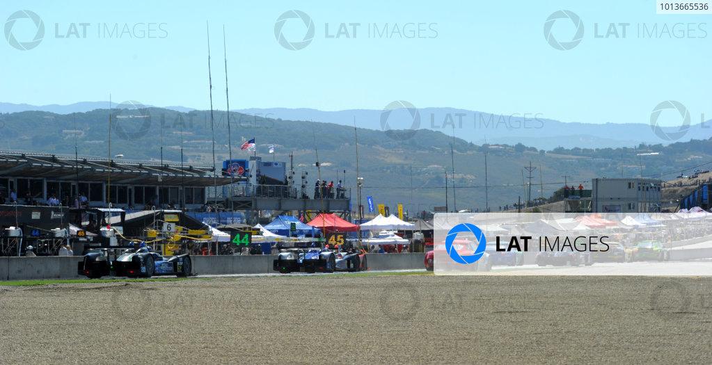 16-18 September, 2011, Monterey, California USACars on front straight(c)2011,  Dan R. Boyd  LAT Photo USA