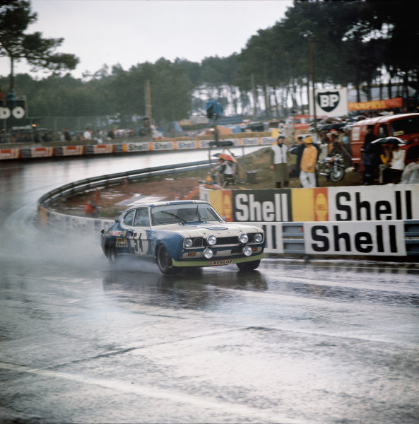 Le Mans, France. 10-11 June 1972 Gerry Birrell/Claude Bourgoignie (Ford Capri 2600 RS), 10th position, action. World Copyright: LAT PhotographicRef: 72LMAS63