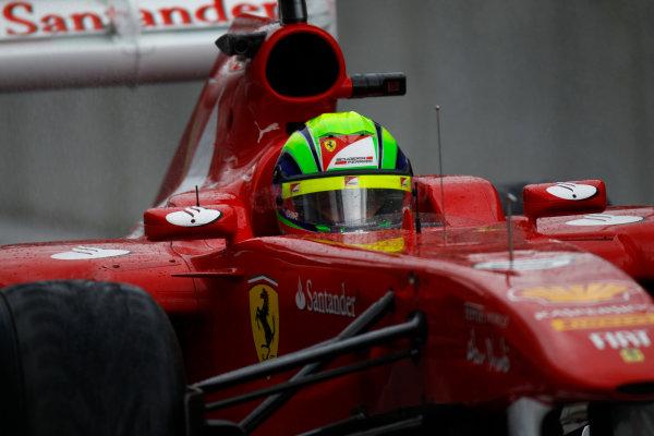 Spa-Francorchamps, Spa, Belgium25th August 2011.Felipe Massa, Ferrari 150° Italia. Action. World Copyright: Glenn Dunbar/LAT Photographicref: Digital Image _G7C0651