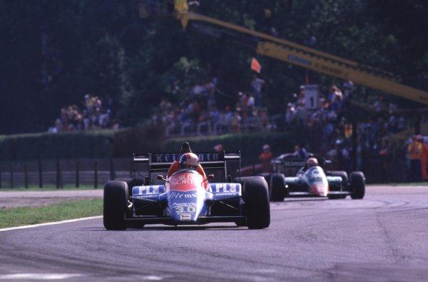 1984 Italian Grand Prix.Monza, Italy.7-9 September 1984.Jo Gartner (Osella FA1F Alfa Romeo) 5th position.World Copyright - LAT Photographic
