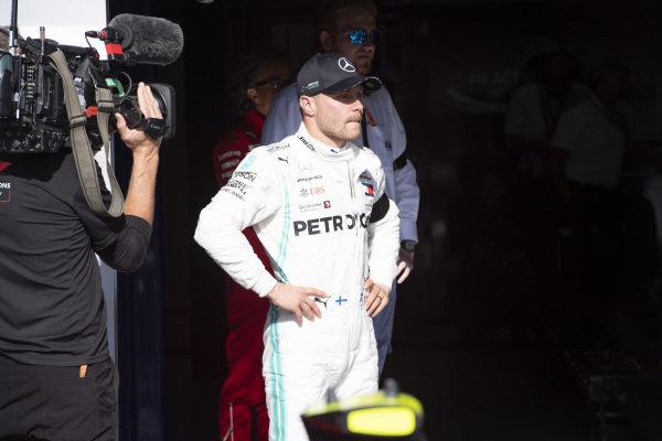 Valtteri Bottas, Mercedes AMG F1, 3rd position, in Parc Ferme