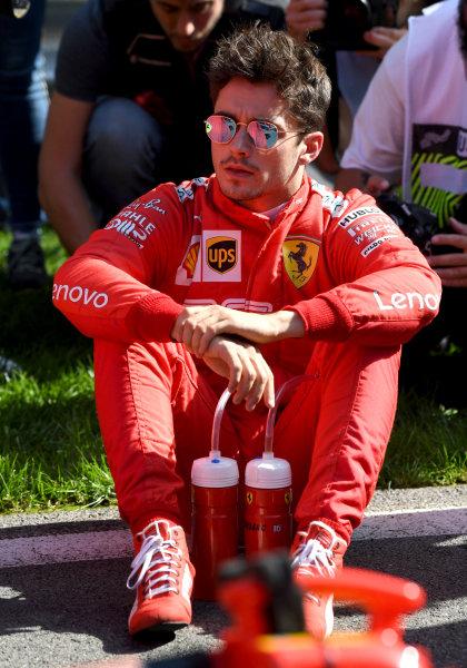 Charles Leclerc, Ferrari on the grid before the race,
