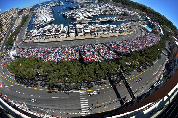 Nico Rosberg (GER) Mercedes AMG F1 W04 leads Lewis Hamilton (GBR) Mercedes AMG F1 W04. Formula One World Championship, Rd6, Monaco Grand Prix, Race Day, Monte-Carlo, Monaco, Sunday 26 May 2013. BEST IMAGE
