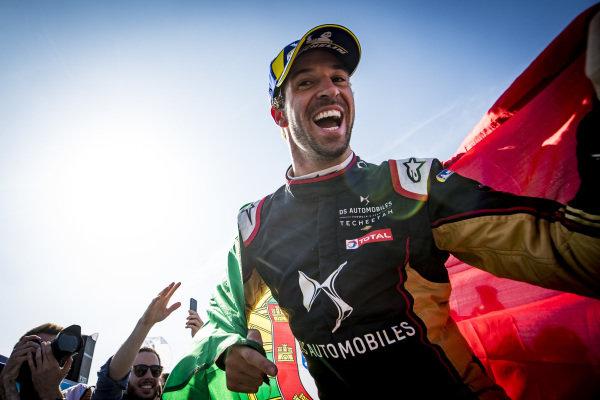 Race winner Antonio Felix da Costa (PRT), DS Techeetah celebrates.