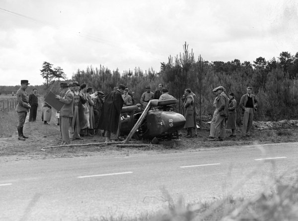 Georges Delaroche, Riley, Riley MPH, crashed badly.
