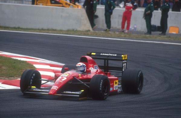 1991 French Grand Prix.Magny-Cours, France.5-7 July 1991.Alain Prost (Ferrari 643) 2nd position.Ref-91 FRA 07.World Copyright - LAT Photographic