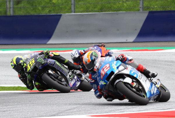 Valentino Rossi, Yamaha Factory Racing Alex Rins, Team Suzuki MotoGP.