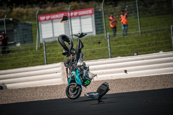 Franco Morbidelli, Petronas Yamaha SRT crash.