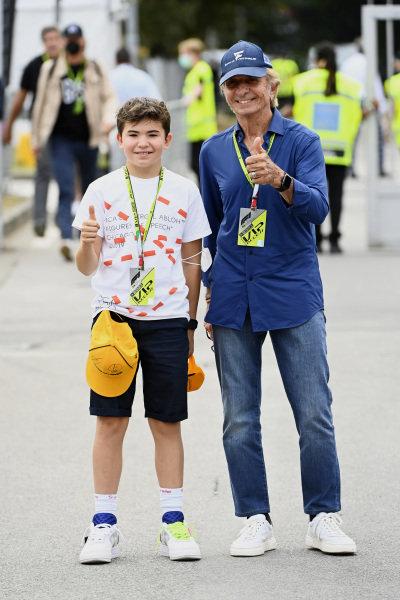 Emerson Fittipaldi with his son Emerson Fanucchi Fittipaldi