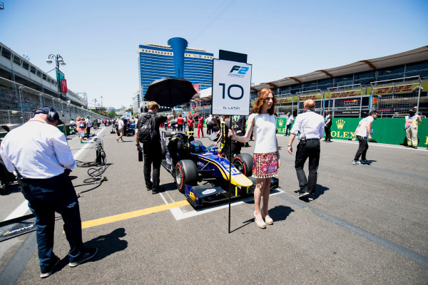 2017 FIA Formula 2 Round 4. Baku City Circuit, Baku, Azerbaijan. Saturday 24 June 2017. Nicholas Latifi (CAN, DAMS)  Photo: Zak Mauger/FIA Formula 2. ref: Digital Image _54I1114