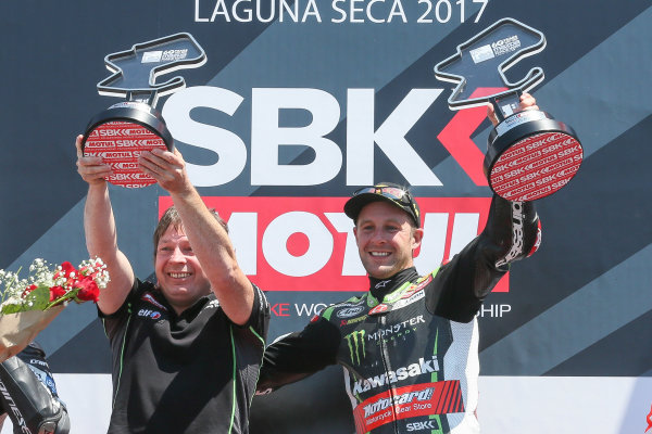 2017 Superbike World Championship - Round 8 Laguna Seca, USA. Sunday 9 July 2017 Winner Jonathan Rea, Kawasaki Racing World Copyright: Gold and Goose/LAT Images ref: Digital Image 683462