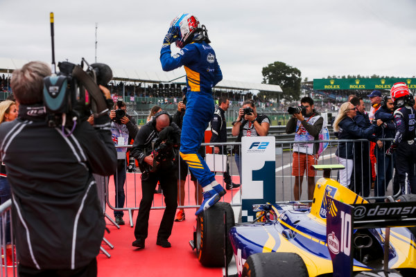 2017 FIA Formula 2 Round 6. Silverstone, Northamptonshire, UK. Sunday 16 July 2017.Nicholas Latifi (CAN, DAMS).  Photo: JEP/FIA Formula 2. ref: Digital Image 1DXA9102