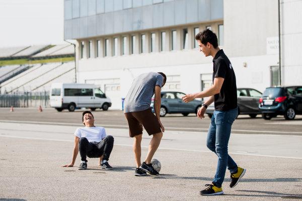 2017 GP3 Series Test 4.  Hungaroring, Budapest, Hungary. Tuesday 6 June 2017. Nirei Fukuzumi (JPN, ART Grand Prix), Jack Aitken (GBR, ART Grand Prix)  Photo: Zak Mauger/GP3 Series Media Service. ref: Digital Image _54I2095
