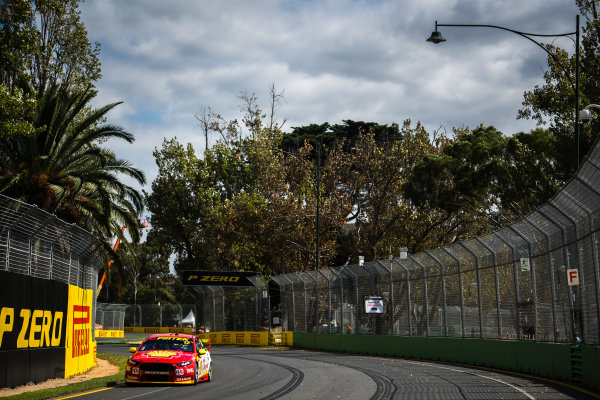 2017 Supercars Championship, Australian Grand Prix Support Race, Albert Park, Victoria, Australia. Thursday March 23rd to Sunday March 26th 2017. Fabian Coulthard drives the #12 Shell V-Power Racing Team Ford Falcon FGX. World Copyright: Daniel Kalisz/LAT Images Ref: Digital Image 230217_VASCAUSGP_DKIMG_0334.JPG