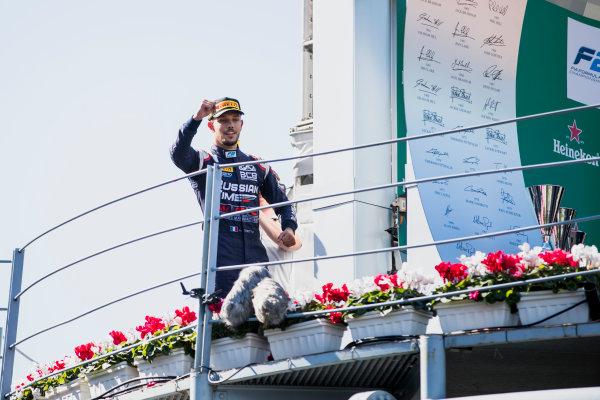 2017 FIA Formula 2 Round 9. Autodromo Nazionale di Monza, Monza, Italy. Sunday 3 September 2017. Luca Ghiotto (ITA, RUSSIAN TIME).  Photo: Zak Mauger/FIA Formula 2. ref: Digital Image _56I9188