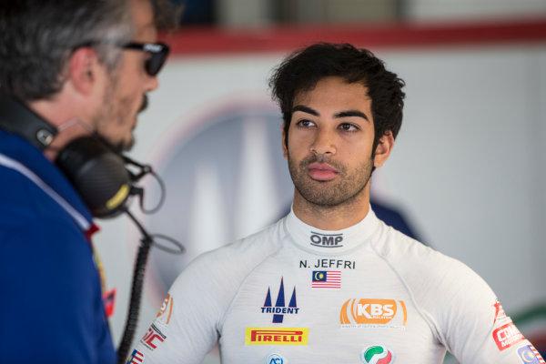 2017 FIA Formula 2 Round 10. Circuito de Jerez, Jerez, Spain. Saturday 7 October 2017. Nabil Jeffri (MAS, Trident).  Photo: Andrew Ferraro/FIA Formula 2. ref: Digital Image _FER1474