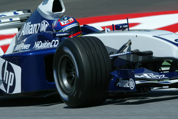 2003 Austrian Grand Prix, Friday Qualifying,A1 Ring, Austria.16th May 2003Juan-Pablo Montoya, BMW Williams FW24, action.World Copyright LAT Photographic.Digital Image Only.