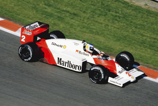 1986 Belgian Grand Prix.Spa-Francorchamps, Belgium. 23-25 May 1986.Keke Rosberg (McLaren MP4/2 TAG Porsche).Ref-86 BEL 32.World Copyright - LAT Photographic