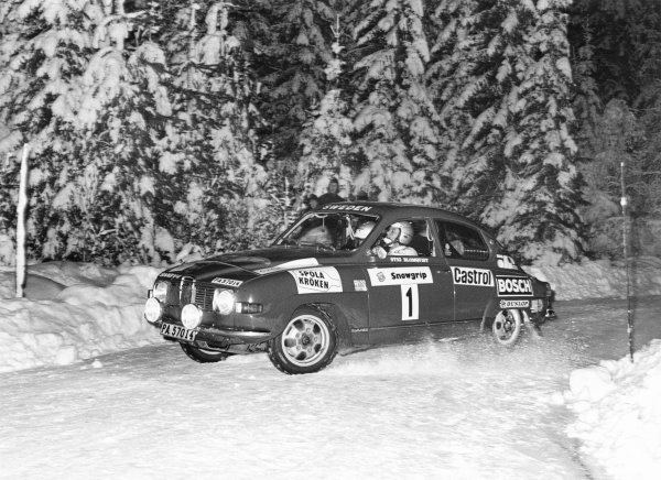 1973 World Rally Championship. Swedish Rally, 15th - 18th February.Winner Stig Blomqvist in the Saab 96. Action.World Copyright: LAT Photographic.ref: 5065/41 (60mb Scan)
