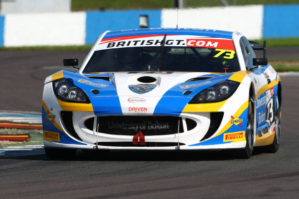2016 British GT Championship Donington Park 10th-11th September 2016 Anna Walewska / Nathan Freke Century Motorsport Ginetta G55 GT4 World Copyright. Jakob Ebrey/LAT Photographic