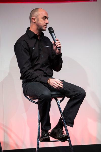 Autosport International Exhibition. National Exhibition Centre, Birmingham, UK. Thursday 8 January 2015. David Brabham on the Autosport stage. World Copyright: Zak Mauger/LAT Photographic. ref: Digital Image _L0U2543
