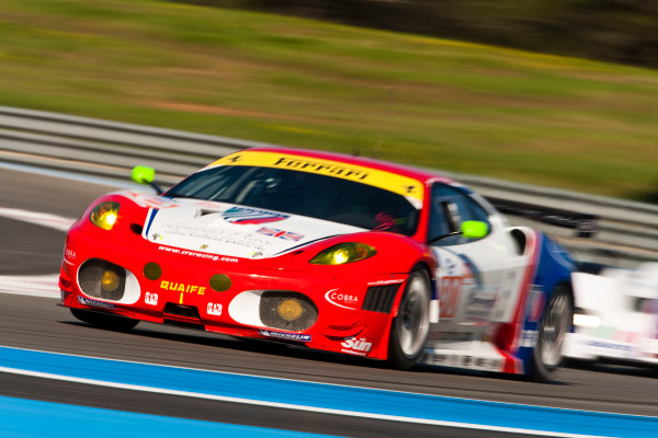 Paul Ricard, France. 9th - 11th April 2010. Andrew Kirkaldy / Tim Mullen, (CRS Racing, Ferrari 430 GT).  Action World Copyright: Drew Gibson/LAT Photographic. Digital Image _Y2Z8282