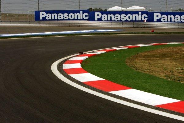 Panasonic branding. Formula One World Championship, Rd14, Turkish Grand Prix, Preparations, Istanbul Park, Turkey, 18 August 2005. DIGITAL IMAGE