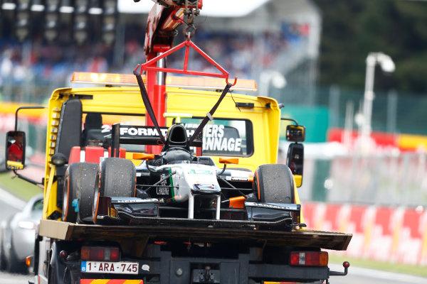 2014 GP2 Series Round 8. Spa-Francorchamps, Spa, Belgium. Sunday 24 August 2014. car of Jon Lancaster (GBR, Hilmer Motorsport)  Photo: Sam Bloxham/GP2 Series Media Service. ref: Digital Image _SBL7630