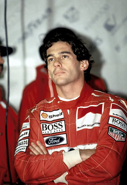 1993 Formula One World ChampionshipAyrton Senna, McLaren. Portrait.World Copyright: LAT Photographic.Ref: Senna MF 01