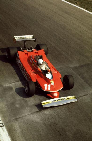 Monza, Italy.  7-9 September 1979. Jody Scheckter (Ferrari 312T4) 1st position. Ref-35mm 79 ITA 01 World Copyright - LAT Photographic.