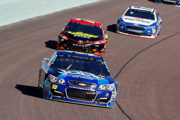 Monster Energy NASCAR Cup Series Ford EcoBoost 400 Homestead-Miami Speedway, Homestead, FL USA Sunday 19 November 2017 Michael McDowell, Leavine Family Racing, Chevrolet SS and Erik Jones, Furniture Row Racing, 5-hour ENERGY Extra Strength Toyota Camry World Copyright: Russell LaBounty LAT Images