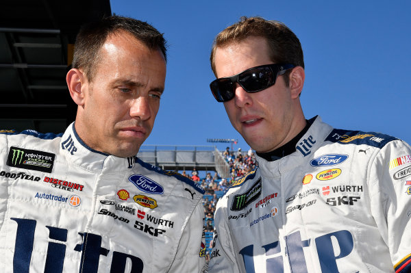 Monster Energy NASCAR Cup Series Ford EcoBoost 400 Homestead-Miami Speedway, Homestead, FL USA Sunday 19 November 2017 Brad Keselowski, Team Penske, Miller Lite Ford Fusion and Paul Wolfe World Copyright: Rusty Jarrett LAT Images