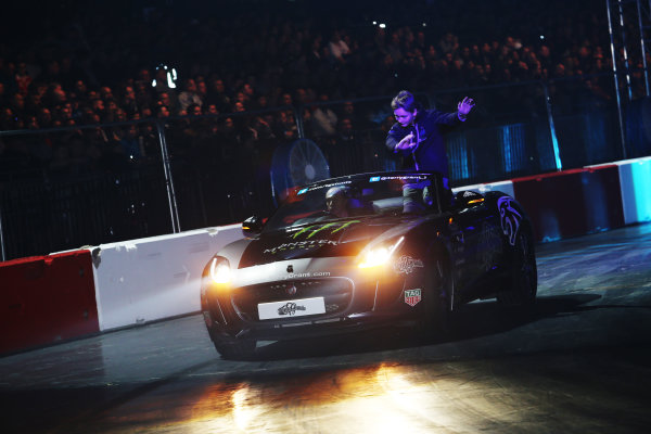 Autosport International Exhibition. National Exhibition Centre, Birmingham, UK. Saturday 13th January 2018. Billy Monger participates in the Live Action Arena.World Copyright: James Roberts/JEP/LAT Images Ref: JR2_4618