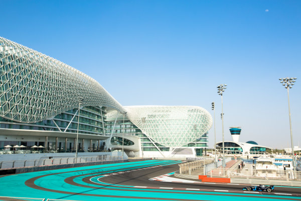 2014 GP2 Series Test 1  Yas Marina Circuit, Abu Dhabi, UAE.  Wednesday 12 March 2014. Nathanael Berthon (FRA) Venezuela GP Lazarus  Photo: Malcolm Griffiths/GP2 Series Media Service ref: Digital Image A50A4744