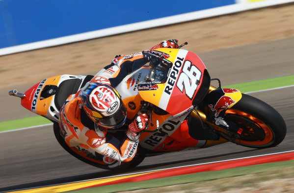2017 MotoGP Championship - Round 14 Aragon, Spain. Saturday 23 September 2017 Dani Pedrosa, Repsol Honda Team World Copyright: Gold and Goose / LAT Images ref: Digital Image 694211